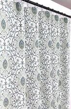 Fabric Shower Curtains For Bathroom Printed Cloth Medallion Damask Design Blue