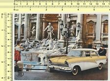 099 Ford Taunus 17M Car Propaganda Card Rome vintage original photo postcard