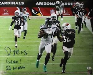DK Metcalf Autographed/Signed Seattle Seahawks 16x20 Photo Gotcha BAS 29978