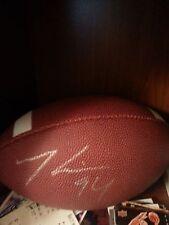 Mathias Kiwanuka signed football autographed ball giants auto kiwi sb xlii xlvi