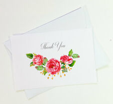 15 Thank You Cards Notes Flower Wedding Business Birthday Thankful Note THANK16