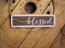 Blessed wood sign for mother's day. Rustic farmhouse style wooden plaque.