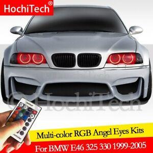 For BMW E46 325i 325xi 330i 330xi 1999-05 HID DRL Angel Eyes LED RGB Multi-color