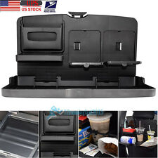 Folding Auto Car Back Seat Dining Table Drink Cup Tray Food Holder Stand Desk US
