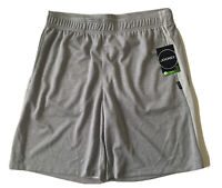 Jockey Sport Double Faced Mesh Ventilated Athletic Shorts Gray Men's Size L NWT