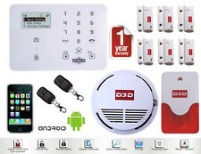 Wireless GSM SMS IR Home Security Alarm System Burglar Intruder DIY Kit Autodial