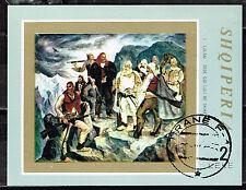 Albania WW2 Partizans in Mountains rare Souvenir Sheet 1971