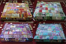 "5 Pcs Wholesale Lots Indian 35"" Patchwork Floor Cushion Covers Home Decorative"