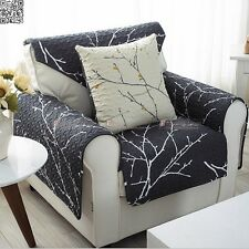 Slipcover Gray Branch Tree Cotton Chair Couch Sofa Cover Recliner Decorative New
