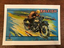 Vintage 1930 Raleigh TT Racer Motorcycle Advertisement Reproduction Postcard