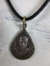 altes Mönch Amulett Silber 925 Seltenes ! Original !! Buddha Halskette Thailand