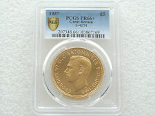 1937 George VI Coronation £5 Five Pound Sovereign Gold Proof Coin PCGS PR66+