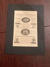 Aultman - Taylor Machinery Farm Advertising-Mansfield Ohio - Matted Print