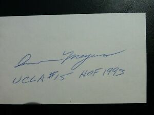 Ann Meyers Signed Index Card with COA