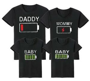 Personalised Battery Life Family T-Shirt Set (gift custom twinning matching)
