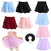 Girls Tutu Skirt Dance Skirt Ballet Skating Gymnastics Chiffon Dance Dress 3-16Y