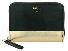 FOSSIL SYDNEY METALLIC MULTI BLACK PURSE WALLET SL4368001 NEW IN