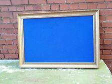 Big blue felt memo board. Shabby. Gold frame. Wedding. Photos. Sitting list.