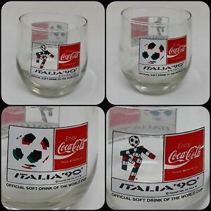 Coca Cola World Cup Italia 90 Glass Rare Vintage Football Collectable 1990 VGC