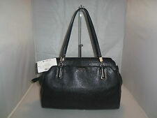 COACH MADISON HANDBAG 25161 KIMBERLY LEATHER CARRYALL SATCHEL, PURSE $398 BLACK