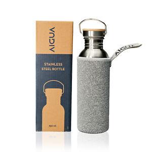Trinkflasche Edelstahl Flasche Wasserflasche Sportflasche 500 ml - 750 ml - 1L