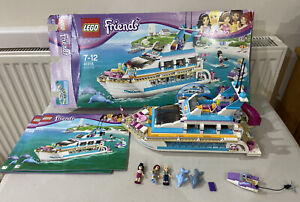 Boxed LEGO Friends Dolphin Cruiser (41015) 100% complete with instructions