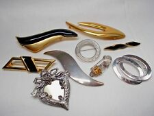 Art Deco Style 9 Piece BROOCH / PIN LOT Assorted Vintage To Modern