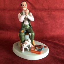 """Norman Rockwell """"Man Threading A Needle"""" - A1 condition - Price Reduced!"""