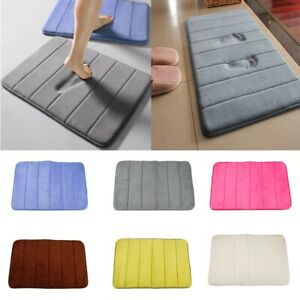 Memory Foam Bathroom Rug Absorbent Bath Mat Set Small Large and Contour Carpet