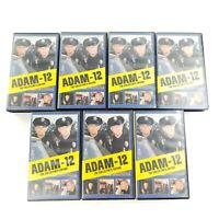 Adam-12 VHS Collector's Edition Lot of 7 Tapes / 28 Episodes