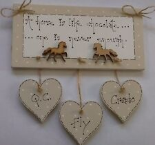personalised horse Horses are like chocolate plaque gift sign
