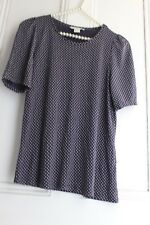 H&M Navy Chic T~ Shirt Top ~ Size 32""