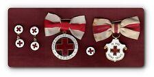 """Medalla y distintivo, con juego de gemelos y pin de """"Dama Auxiliar Voluntaria"""""""