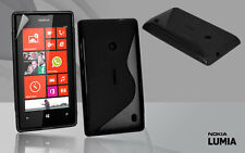 Black Premium Jelly Case Cover for Nokia Lumia 520 + Screen Guard