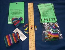Fair Trade worry dolls in pouch & description Stress Relief Guatemala Buy4 Get5!