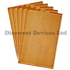 5x   100x150mm Bakelite 1.2mm Single Side Copper Prototype PCB Matrix Board
