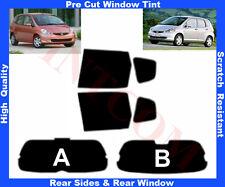 Pre Cut Window Tint Honda Jazz 5D 2002-2008 Rear Window & Rear Sides Any Shade