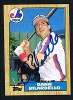 Dann Bilardello #577 signed autograph auto 1987 Topps Baseball Trading Card