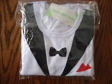 Baby Boy Wedding Tuxedo Suit Bowtie OnePiece Romper Bodysuit Outfit Black