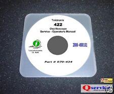 "Tektronix TEK 422 Oscilloscope Service Manual With Complete 17""x11"" Diagrams CD"