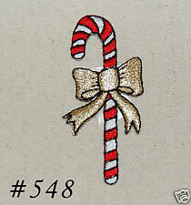 1PC ~CHRISTMAS CANDY CANE~IRON ON EMBROIDERED PATCH