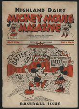 MICKEY MOUSE Magazine Vol.1 #6, 1934, Dairy Giveaway