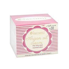 Crema notte 30+ Argan e Acido ialuronico per pelle secca normale NACOMI 50 ml