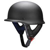 DOT Approved German Style Motorcycle Half Helmet Open Face Chopper Cap M L XL