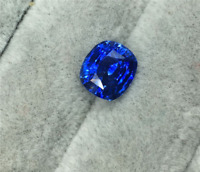 TOP QUALITY AAAAA+ LOOSE GEMSTONE UNHEATED ROYAL BLUE SAPPHIRE 4mm CUSHION CUT