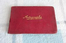 More details for antique 1920's autograph quote poem sketch book red leather bound