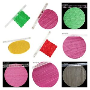 Acrylic Rolling Pin Stick Fondant Polymer Clay DIY Embossing Roller Craft Tool