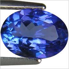 1.01 Ct AA Natural D Block Tanzanite Medium Blue Violet Color Oval Cut