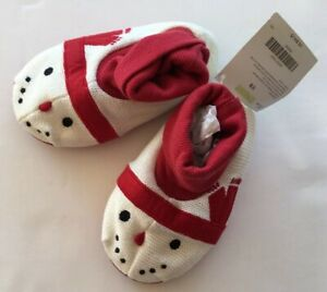 NWT Gymboree Unisex Sz 7-8 Holiday Snowman Christmas Slippers for about 2T-3T