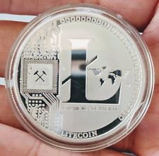 Physical Litecoin/LTC High-Polished, Silver-Plated In Collector Case